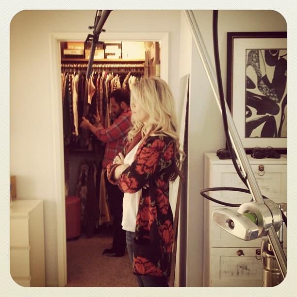 filming in my closet