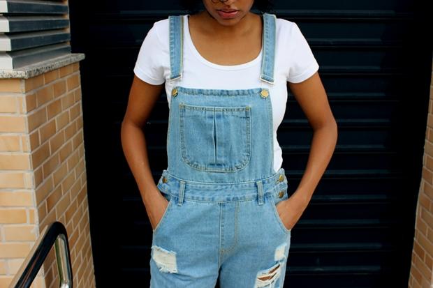 como usar macacao jeans