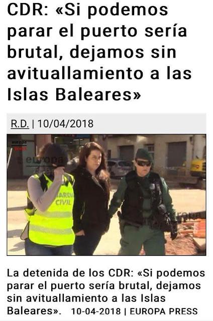 CDR, Sie wollten Balearen Hafen stoppen.