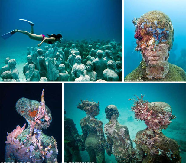 Beautiful Places Underwater: The Domestic Curator: Cancun's Underwater Museum