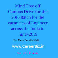 Mind Tree off Campus Drive for the 2016 Batch for the vacancies of Engineer across the India in June-2016