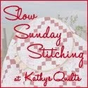 Slow Stitching Hand Sunday with Kathy