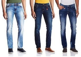 Lawman Jeans for Rs.595 | Killer Jeans for Rs.769 | Wrangler Jeans for Rs.838 | Levis Jeans for Rs.909