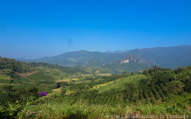 View over Tham Sakoen National Park in North Thailand