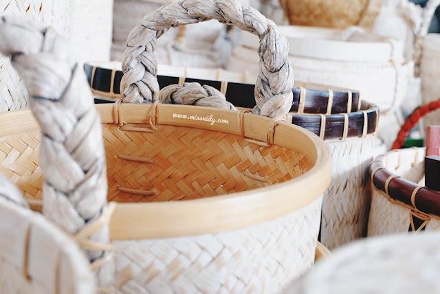 kerajinan bambu di desa wisata malangan