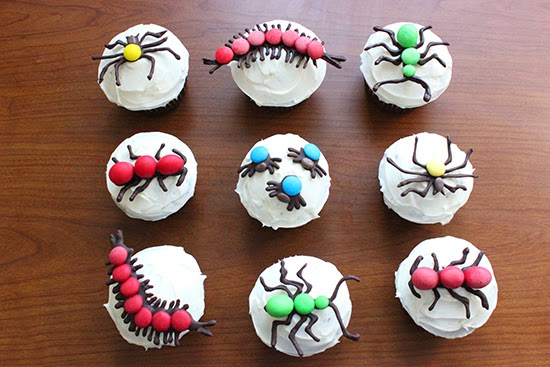 Creepy Crawly Toppers Cupcake Decorating