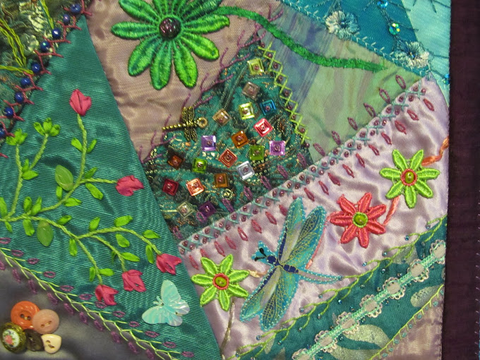 Block from crazy quilt