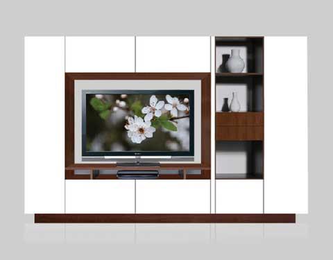 Lemari tv lcd minimalis