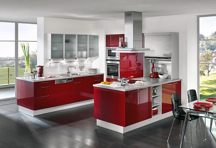 Fotos de cozinhas em vermelho  Decorao e Ideias
