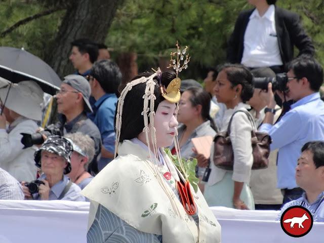 Princesse de la cour à Aoi matsuri à Kyoto