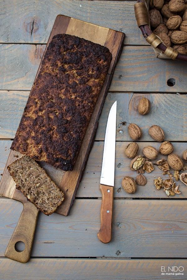 Pan enriquecido con nueces y manzanas