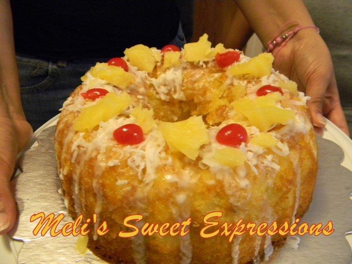 Meli S Sweet Expressions Piñ̃a Colada Cake With Malibu Rum