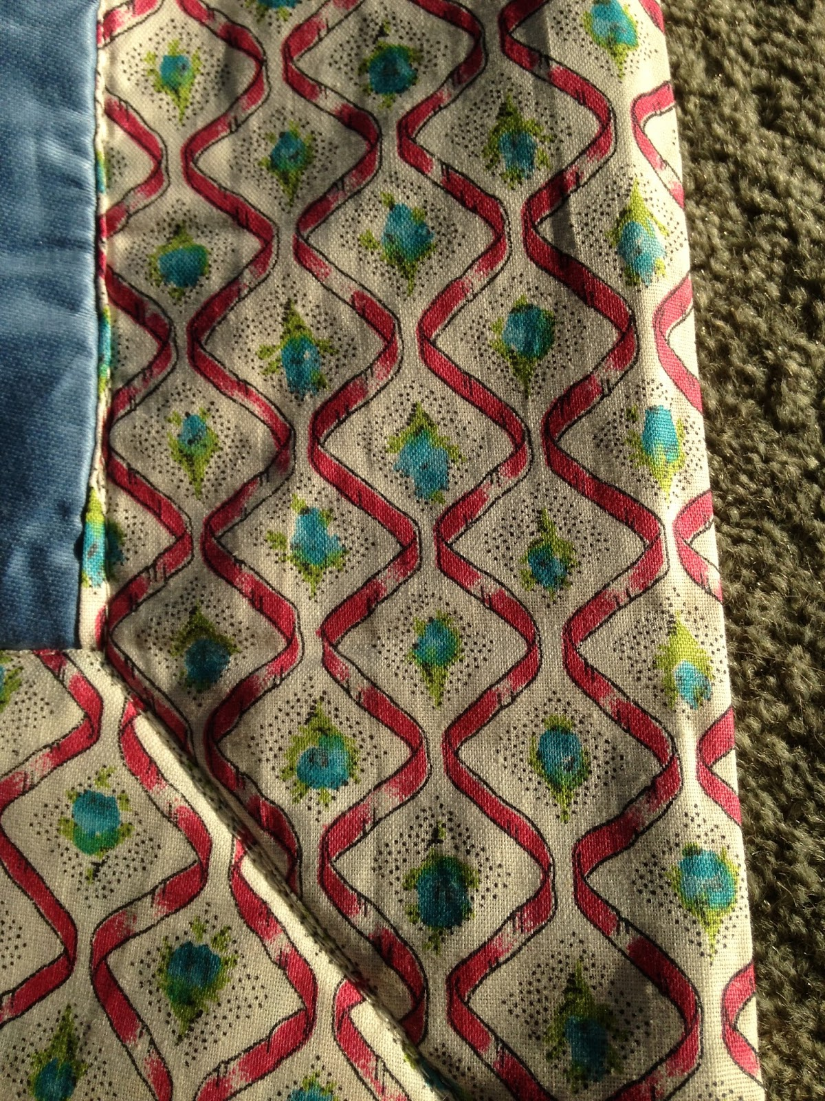 Welsh Quilts: Scottish throw - Vintage fabric - 1960's : inexpensive quilting fabric - Adamdwight.com