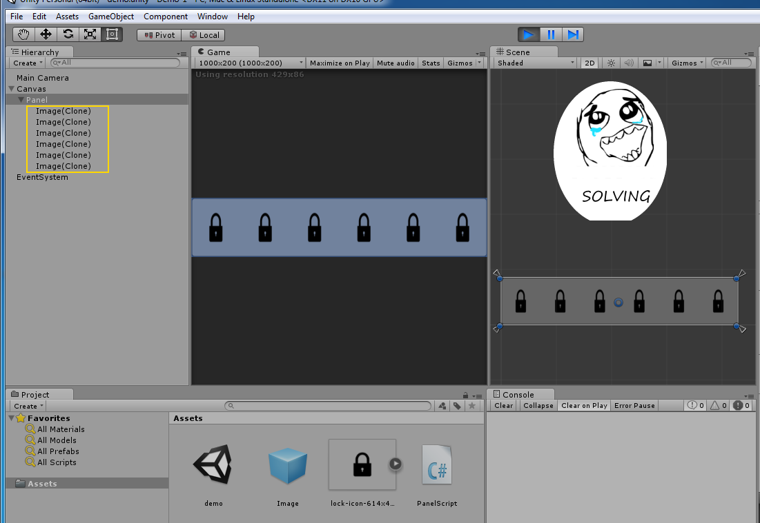 codingtrabla: Unity3D: Horizontal Layout Group - add cells in runtime
