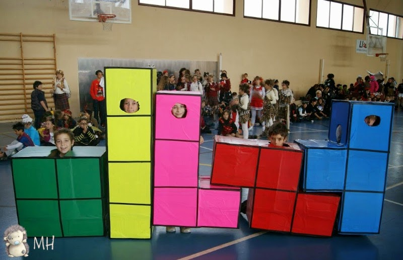 Disfraz de tetris casero