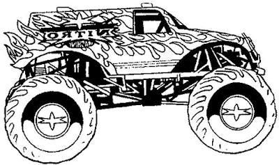 Gambar mewarnai monster truck - 2