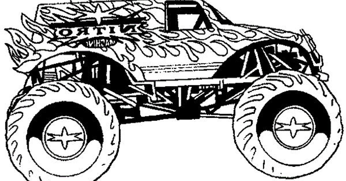 Gambar Mewarnai Mobil Monster Kumpulan Gambar Mobil Terbaru