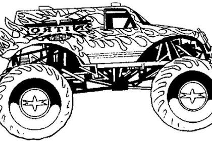 Gambar Mewarnai Mobil Monster