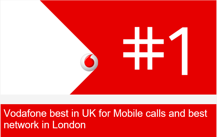 NEWS:Vodafone best in UK for Mobile calls and best network in London