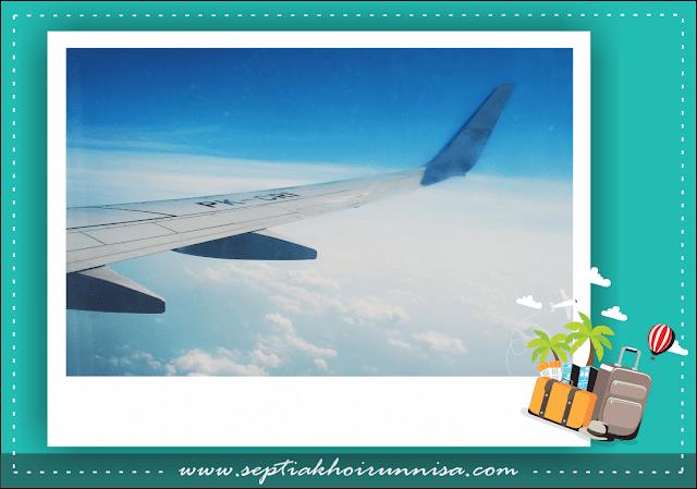 Terbang dari Lampung menuju Jakarta