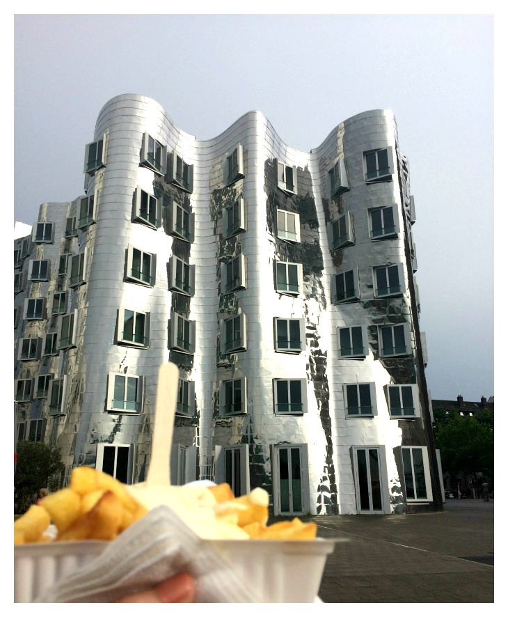 Gehry-House and Fries in Düsseldorf's Media Harbor, Germany