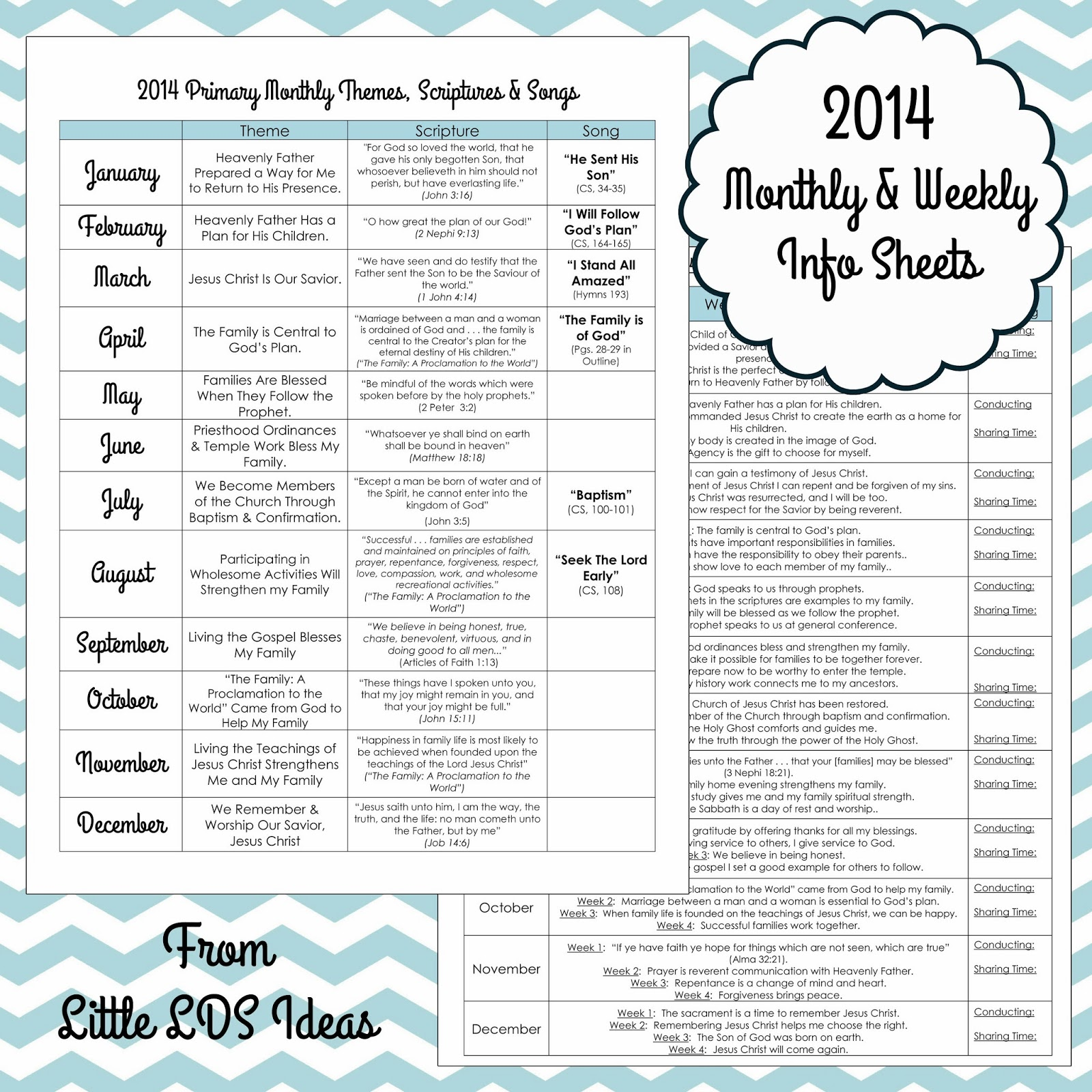 Primary Monthly Amp Weekly Info Sheets