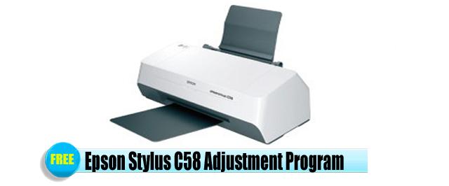 Epson Stylus C58 Adjustment Program