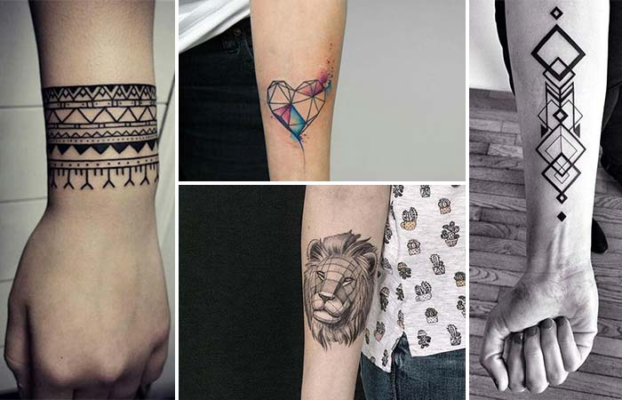 geometrik bilek dövmeleri geometric wrist tattoos