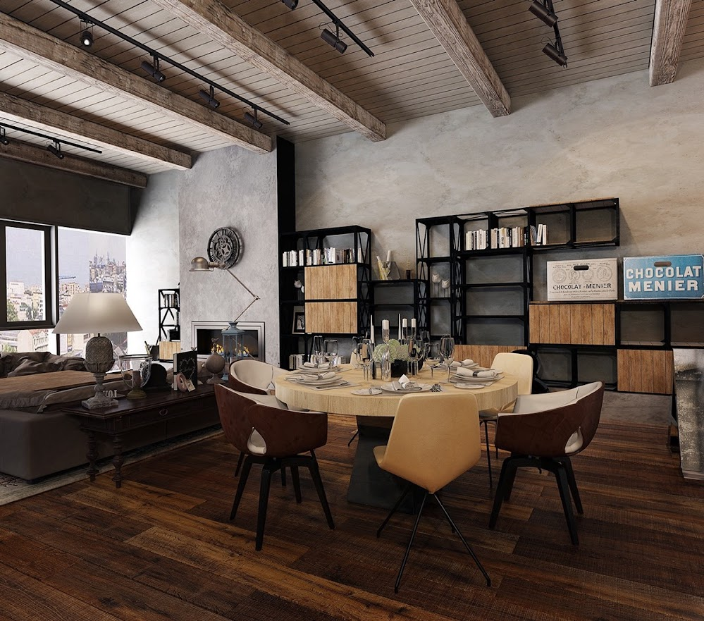 sophisticated-industrial-dining-room