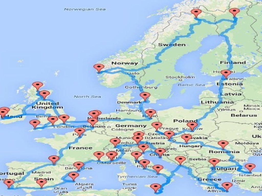 europe trip map planner
