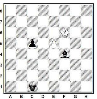 Estudio artístico de ajedrez compuesto por L. Mitrofanov (1º Premio, Torneo para Superminiaturas 1977)