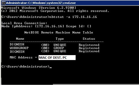 cmd find hostname from ip