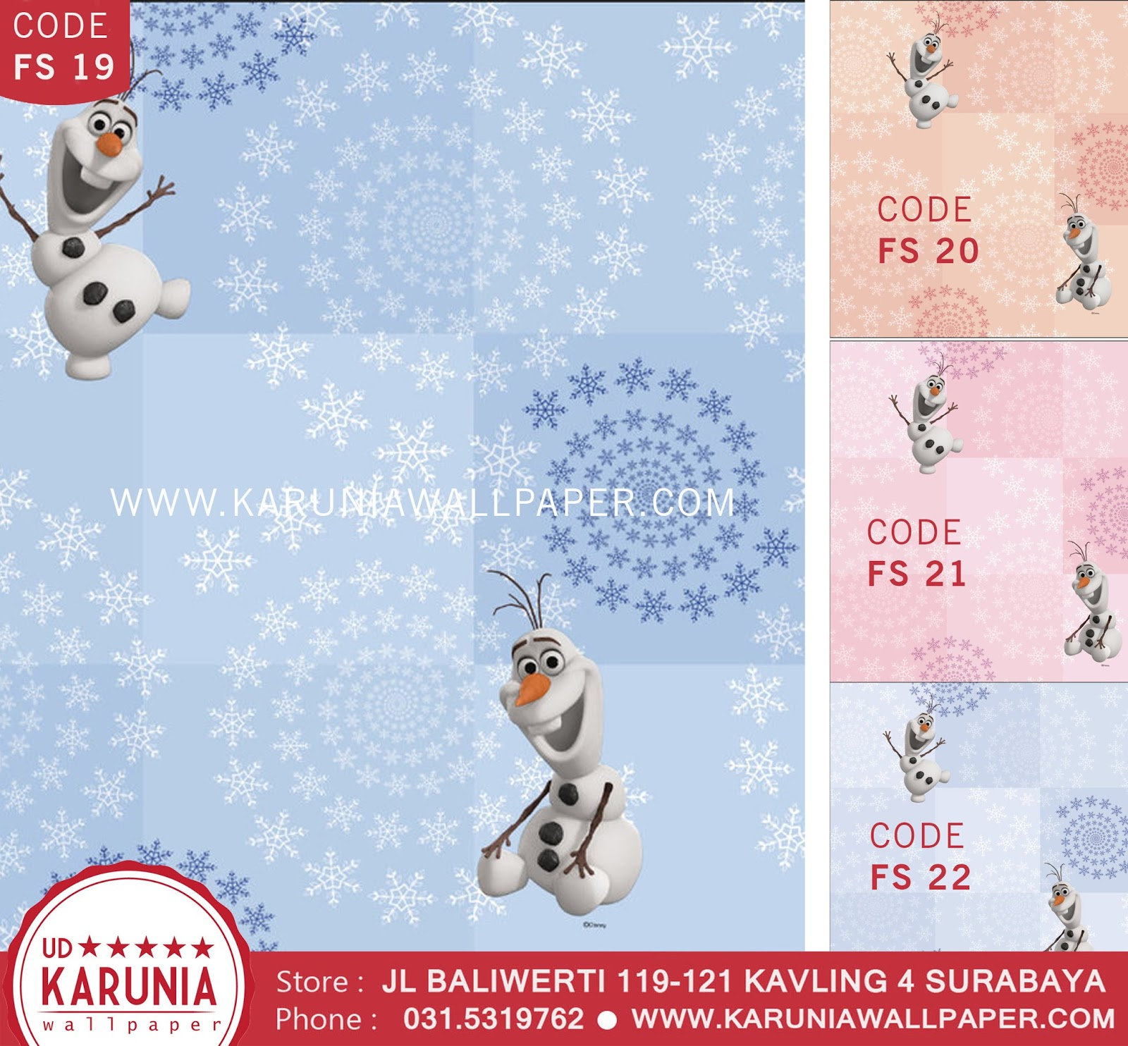 jual wallpaper dinding frozen disney karuniawallpaper surabaya