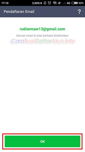 menambahkan email di line