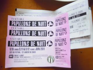 Entradas del Festival Papilons de Nuit 2011