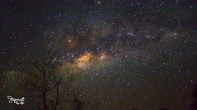 galaksi bima sakti dilihat dari tahura mandiangin kalsel