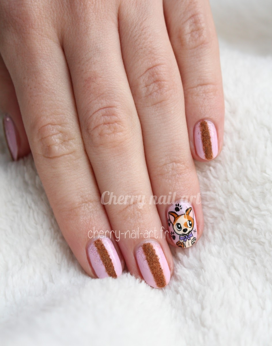 nail-art-chien-nouvel-an-chinois-poudre-velours