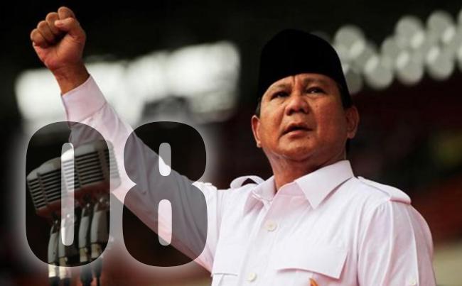 Maksud Arti 08 (Kosong Delapan) Prabowo Subianto