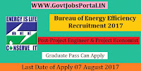 Bureau of Energy Efficiency Recruitment 2017– Project Engineer & Project Economist