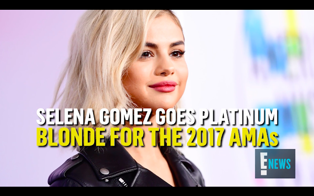 Selena Gomez blonde hair 2017 american music awards