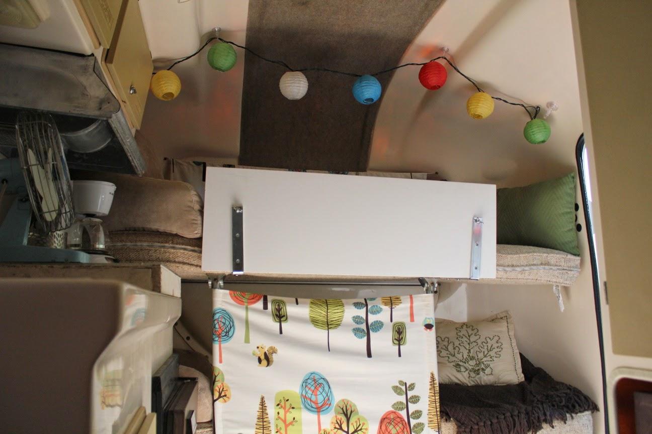 Front Bunk Beds for Kids in U-haul (uhaul) Fiberglass Camper