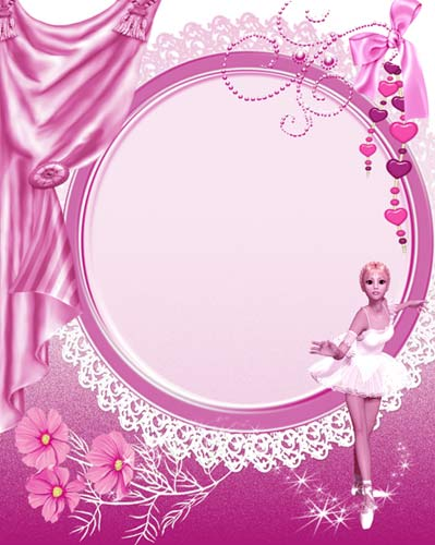 Pink Gril Frame For Photoshop Zisya Art