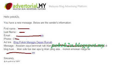 Dapat Tugasan Review Blog AdvertorialMy