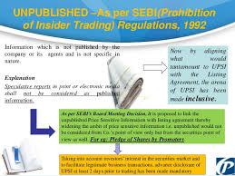 Insider Trading and SEBI