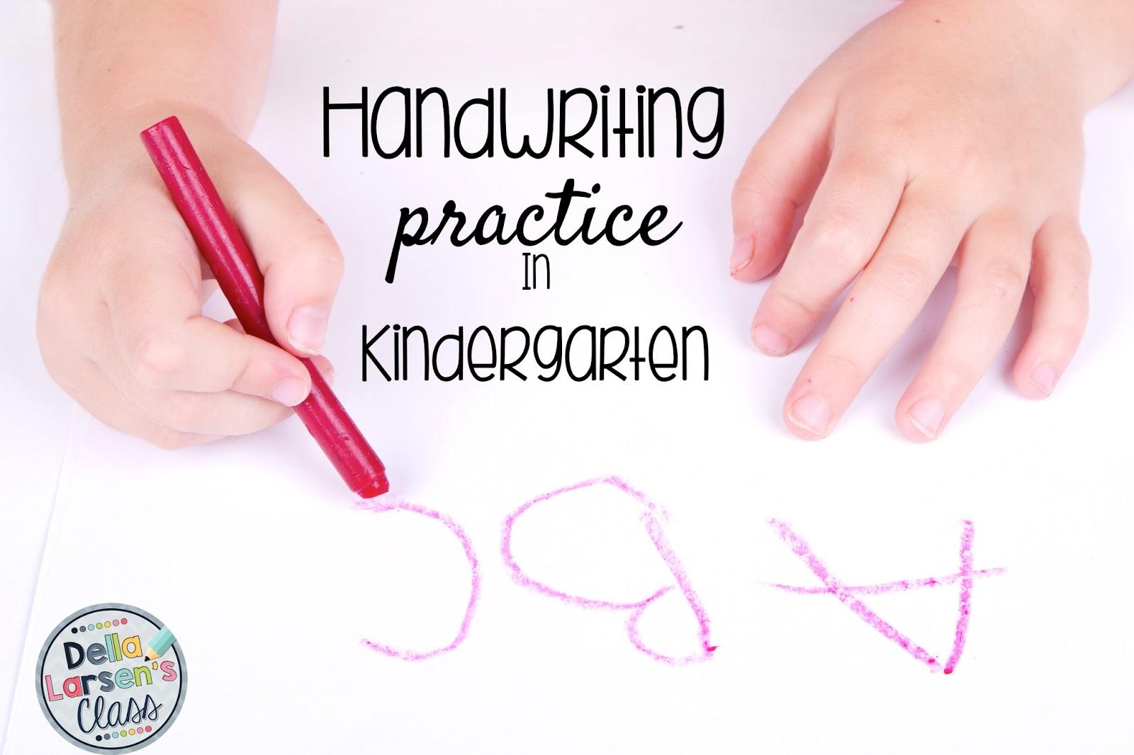Della Larsens Class New Ideas For Teaching Handwriting