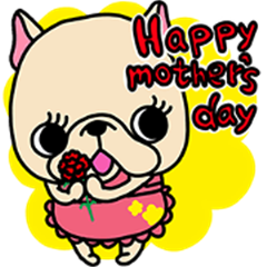 Frebull Mother's day sticker