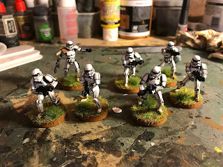 The bases are finshed off with static grass