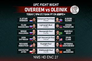 UFC Fight Night AsiaSat 5 Biss Key 21 April 2019