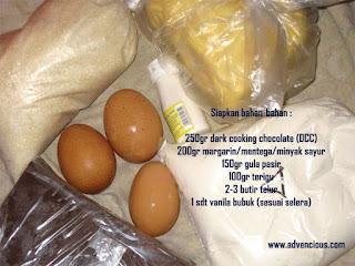 Siapkan bahan-bahan untuk membuat Fudge Brownies