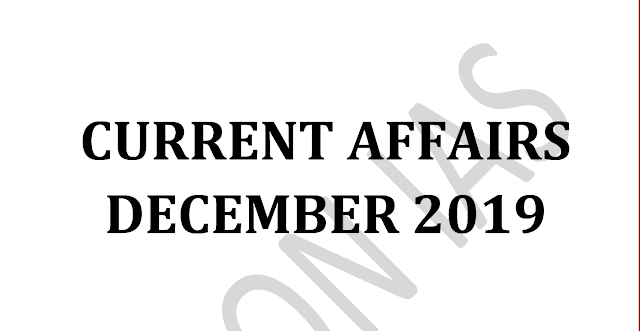 Vision IAS Current Affairs December 2019 pdf